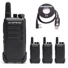 4 piezas Baofeng BF-C9 Mini Walkie Talkie portátil carga USB de dos vías Radio Hotel/restaurante BF C9 con cable de programación USB