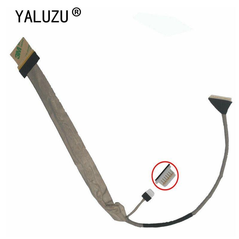 "Yaluzu tela de vídeo flex para toshiba p200 p205 x200 x205 17 ""portátil lcd led lvds display fita cabo dc02000dm00"