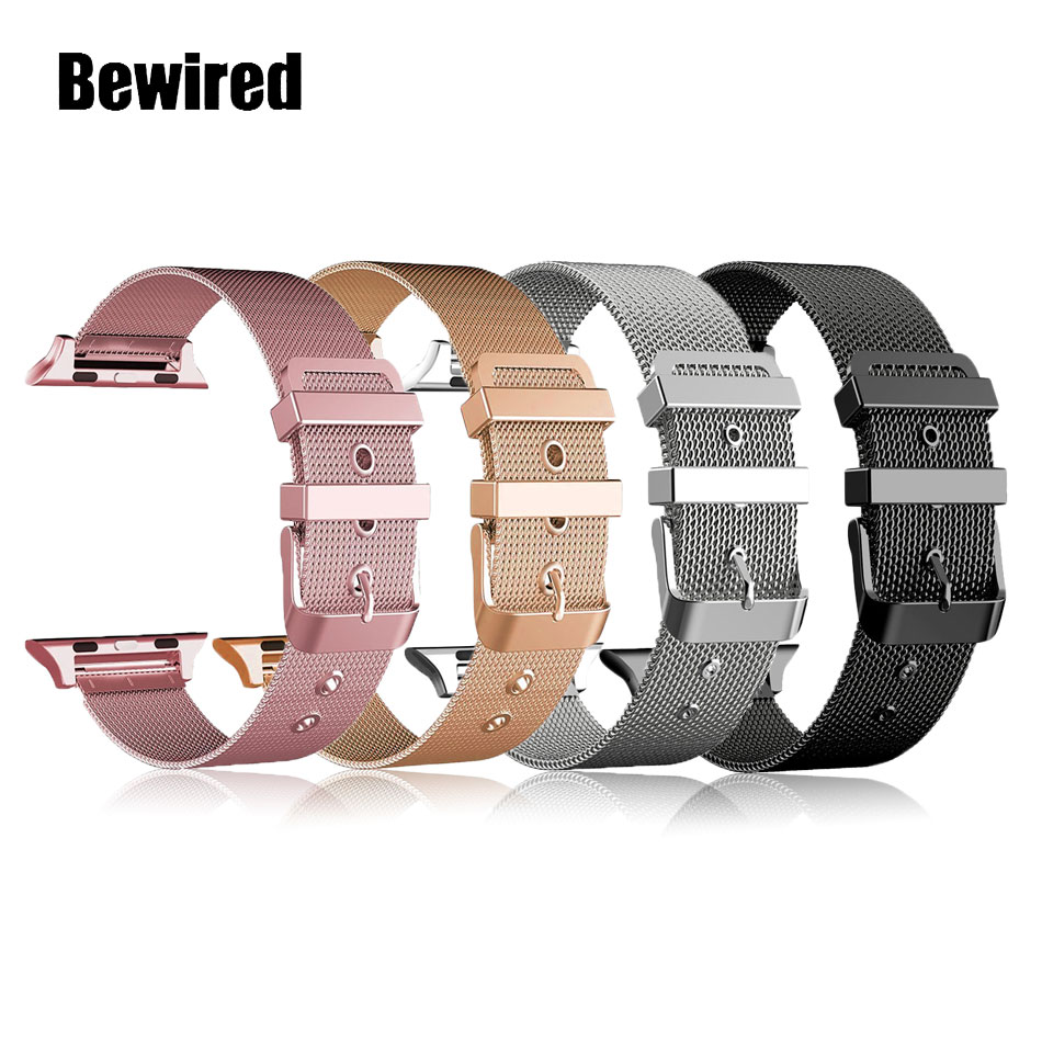 for apple watch band 6 se 5 4 38 42mm stainless steel strap for iwatch loop 40 44mm for apple bands 3 2 1 sport watches bracelet Stainless Steel Loop Band for Apple Watch Band Strap 38MM 42MM for iWatch SE 6/5/4/3/2/1 40MM 44MM Bracelet Wrist Watchband