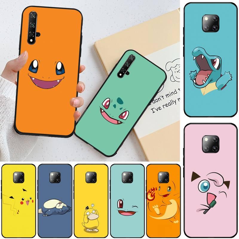 LJHYDFCNB dibujo de Pokémon de silicona suave cubierta del teléfono TPU para Honor 20 20lite view20 7C 8C 7A 8A 10i 20i jugar 9X Pro