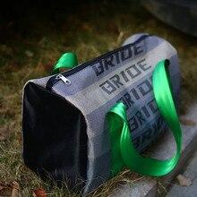 JDM 더플 백 레이싱 튜닝 백 학교 여행 가방 하네스 패브릭 스트랩 시트 벨트 드리프트 카 오토