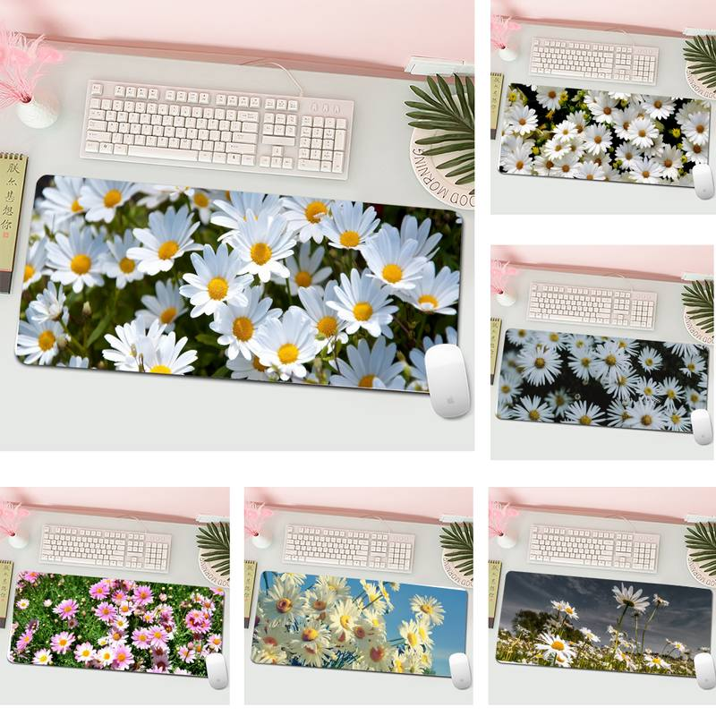 Beautiful daisies Gamer Speed Mice Retail Small Rubber Mousepad Gaming XL Large Keyboard PC Desk Mat Computer Tablet Mouse Pad