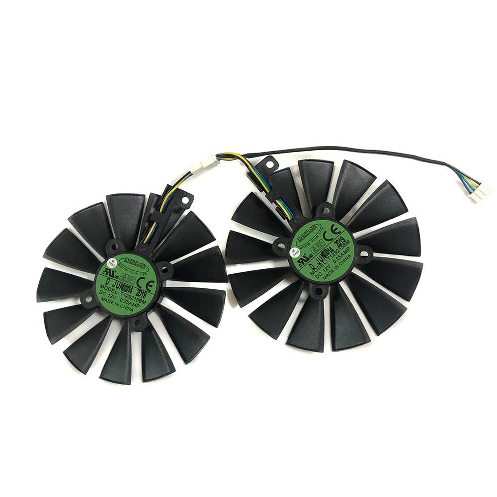2 шт. GPU RX470 GTX1080TI VGA кулер вентиляторы ROG-POSEIDON-GTX1080TI вентилятор видеокарты для ASUS ROG STRIX RX 470 охлаждение видеокарт