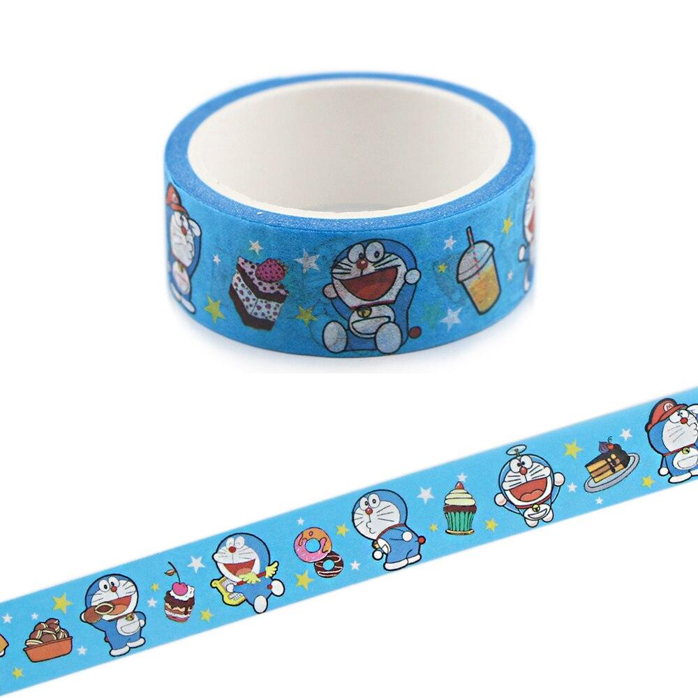 Ransitute R839 mignon Doraemon mignon dessin animé Washi bandes Scrapbooking bricolage décoratif créatif Kawaii rubans de masquage