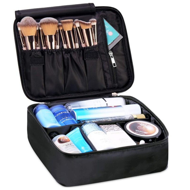 Bolsa de maquillaje de viaje bolsa de almacenamiento de cosméticos caja de almacenamiento caja de maquillaje organizador de cepillos titular bolsa de lavado resistente al agua portátil grande Simple