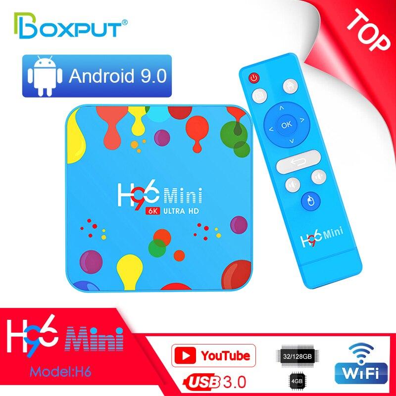 H96 Mini H6 android 9 tv box Allwinner H6 6K USB 3.0 HD Tvbox H.265 Wifi 2.4G&5G BT4.0 Support Googl