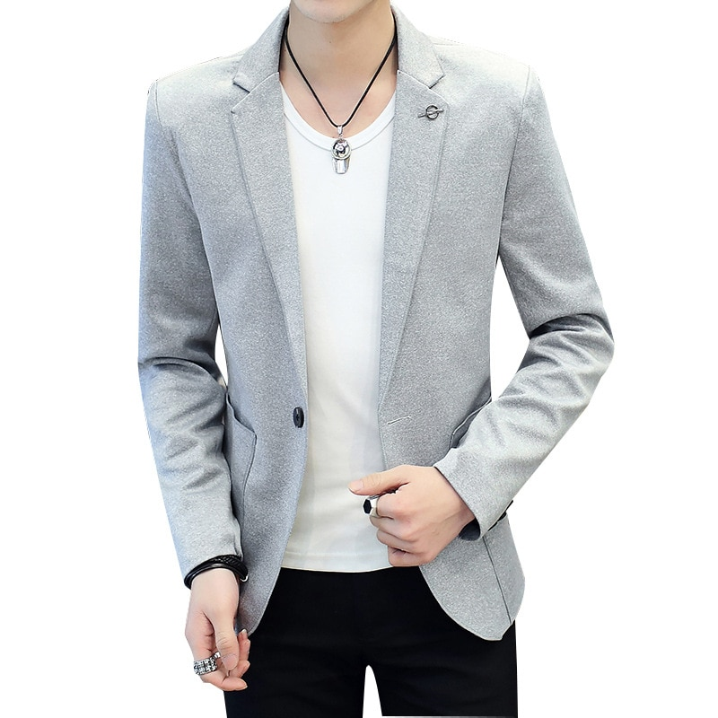 Fall 2020 men new pure color cultivate one's morality leisure suit trend teenagers single suit