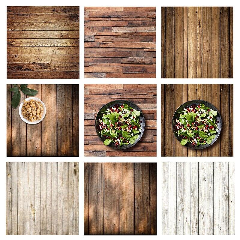 ALLOYSEED 60x60cm Retro madera textura fotografía Fondo telón de fondo para estudio fotográfico Video fondos fotográficos Accesorios