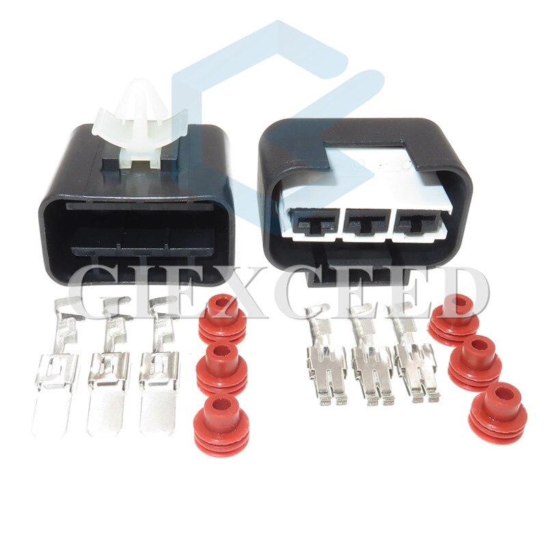 3-контактный 1743271-2 водонепроницаемый Женский Мужской Автомобильный штекер Электрический провод радиатор вентилятор жгут разъем для Hyundai KIA