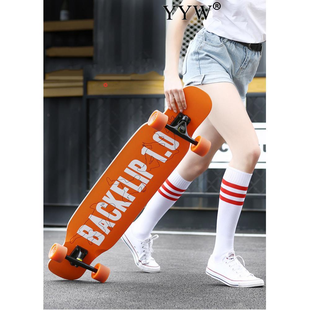 Скейтборд, Лонгборд для взрослых, подростков, девушек, женщин, русская Кленовая дорога, скользящая танцевальная мода, плоская пластина, длин...