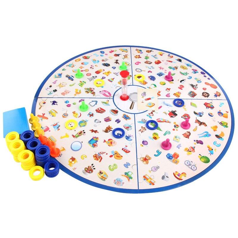 لعبة لوحة اكتشاف الألغاز ، لعبة تعليمية ، تدريب الدماغ ، مجموعة بطاقات استراتيجية ، لعبة تعليمية منتسوري ، هدية