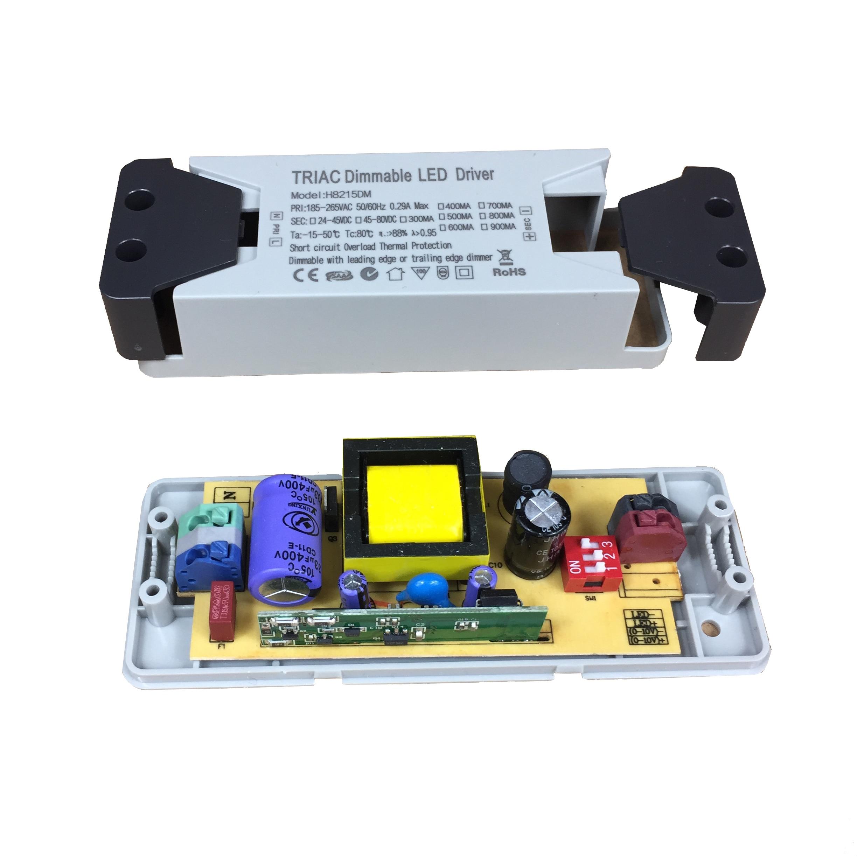 Controlador LED constante regulable de corriente múltiple con interruptor DIP 300mA 400mA 500mA 600mA 700mA 800mA 900mA