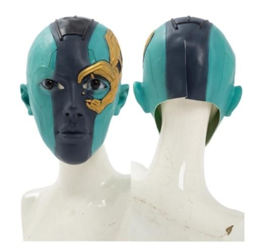 Los Vengadores Endgam nebulosa máscara Cosplay Headgrear Gamora más joven máscara Halloween Cosplay Halloween máscaras regalo de la nave de la gota