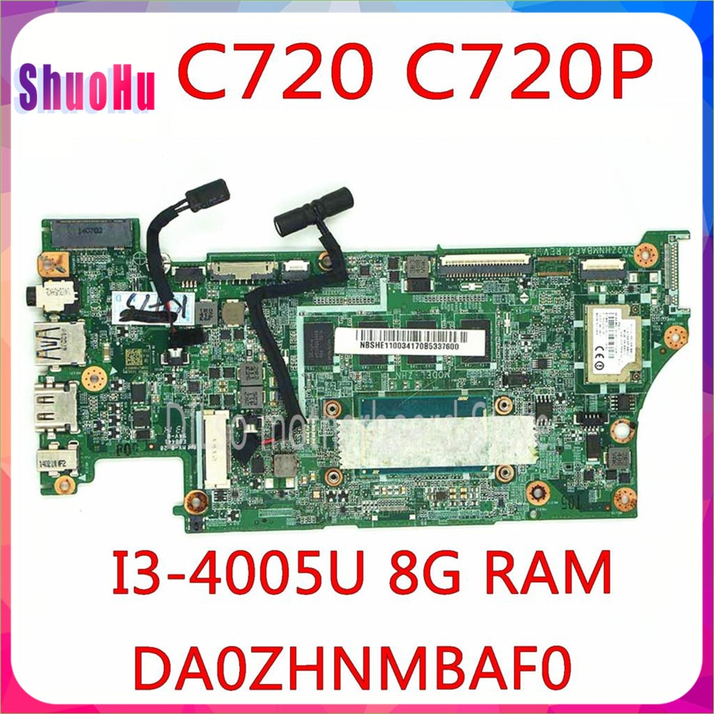 KEFU-placa base DA0ZHNMBAF0 para ordenador portátil ACER C720, C720P, CPU de I3-4005u,...