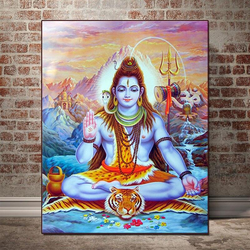 5D DIY, pintura de diamante Shiva Lord, decoraciones de bordado DIY para el hogar, imágenes de diamantes de imitación
