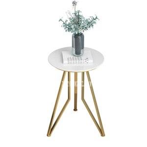 Мраморный боковой столик JM001, маленький круглый журнальный столик в скандинавском стиле, угловой журнальный столик для гостиной, креативный журнальный столик