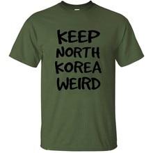 Мужская футболка из хлопка Ramble Brothers Keep North Korea, Мужская футболка в стиле хип-хоп