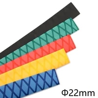dia 22mm non slip heat shrink tube textured pattern diy insulated fishing rod handle racket grip wrap cover waterproof sleeve 1m