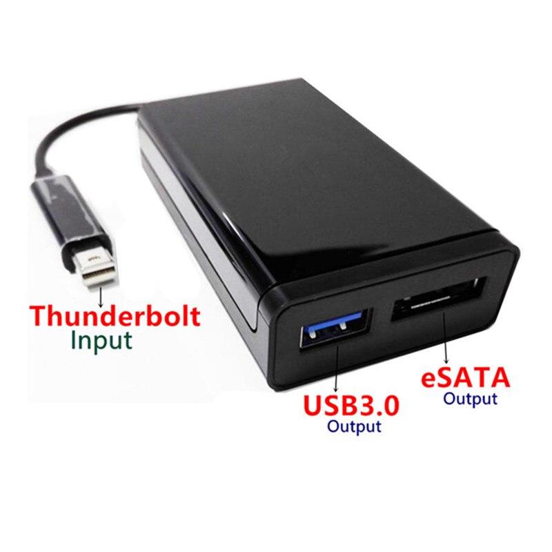 Thunderbolt2 a eSATAIII + Cable adaptador USB3.0 TBT 20M puerto único Usb3.0A conector hembra Dongle para PC ordenador disco duro