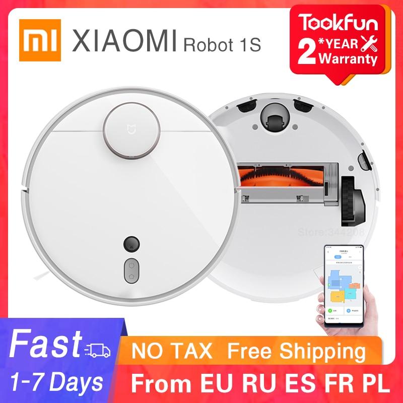 2021 XIAOMI MIJIA Mi Roboter Staubsauger 1S 2 für Home Automatische Sweep Staub Sterilisieren zyklon Saug WIFI APP smart Geplant RC