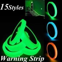 15types 1m3m luminous tape reflective sticker warning strip waterproof self adhesive 1roll bike car home decoration ligntdark