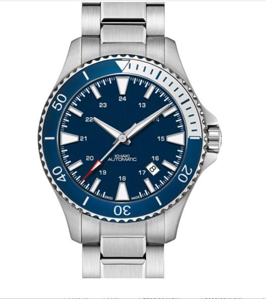 H82345141 ساعة سويسرية الكاكي البحرية الغوص الرجال الساعات الأزرق الكوارتز الغوص العلامة التجارية الفاخرة موضة الرجال الأعمال ساعة اليد للرجل