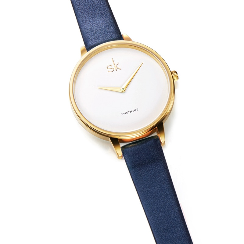 New Arrival Watch Ladies Lover Gift Watches Elegant Blue Leather Strap Watch Girls Clock Dresses Casual Hodinky Reloj Mujer enlarge