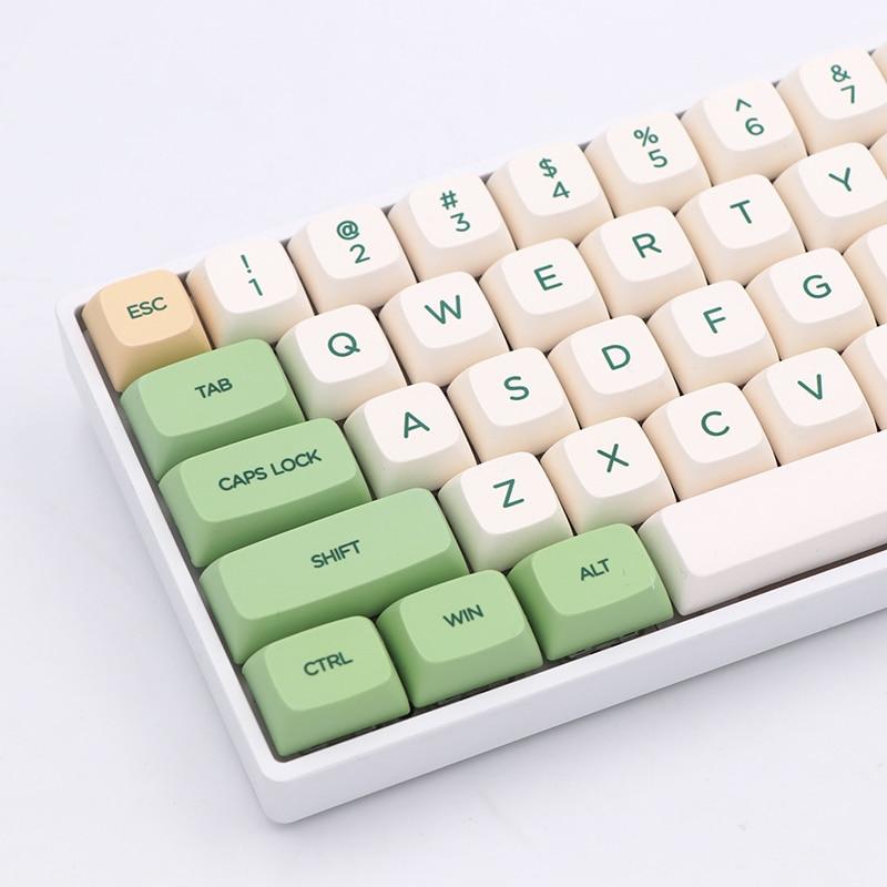 الرجعية eالحراري صبغ التسامي الخطوط PBT keycap ل السلكية USB لوحة المفاتيح الميكانيكية الكرز MX التبديل أغطية المفاتيح