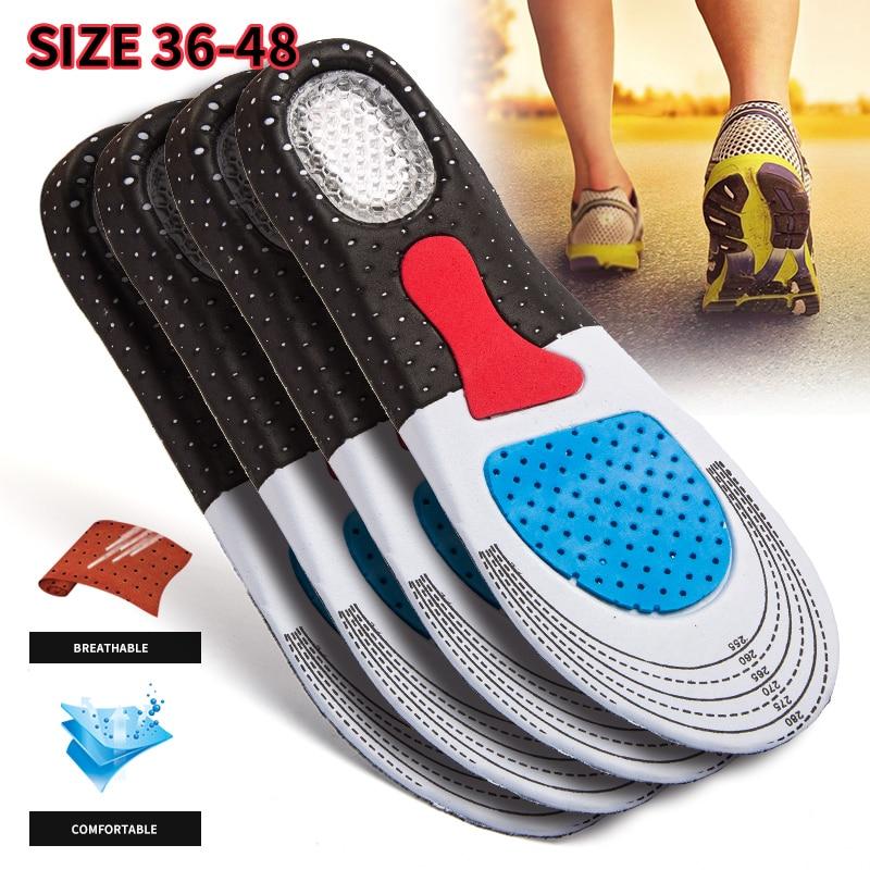 Модные стельки из силикагеля для мужчин и женщин ортопедические стельки для спортивной обуви (35-46)