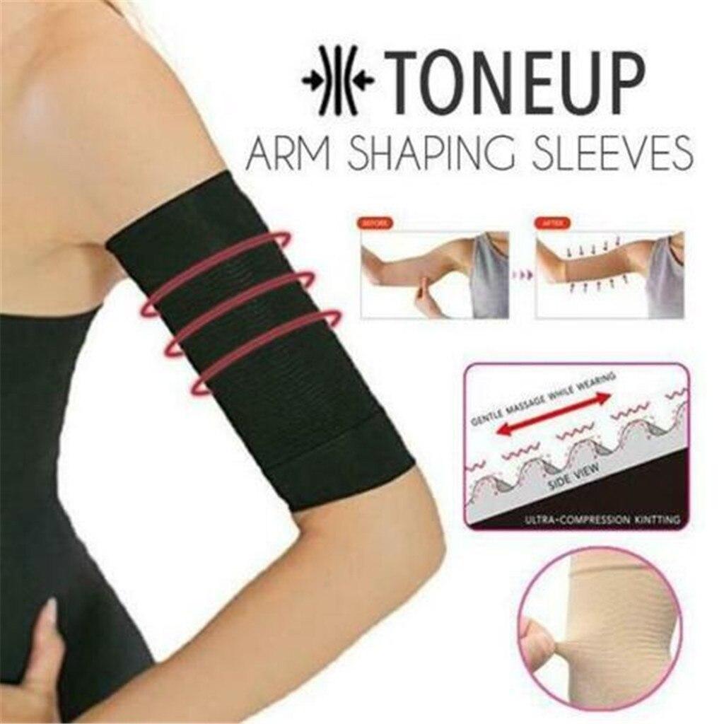 ToneUp brazo forma mangas mujeres elástico Shaperwear adelgazamiento 420D mangas para brazo mujer cinturón de brazo negro calentadores