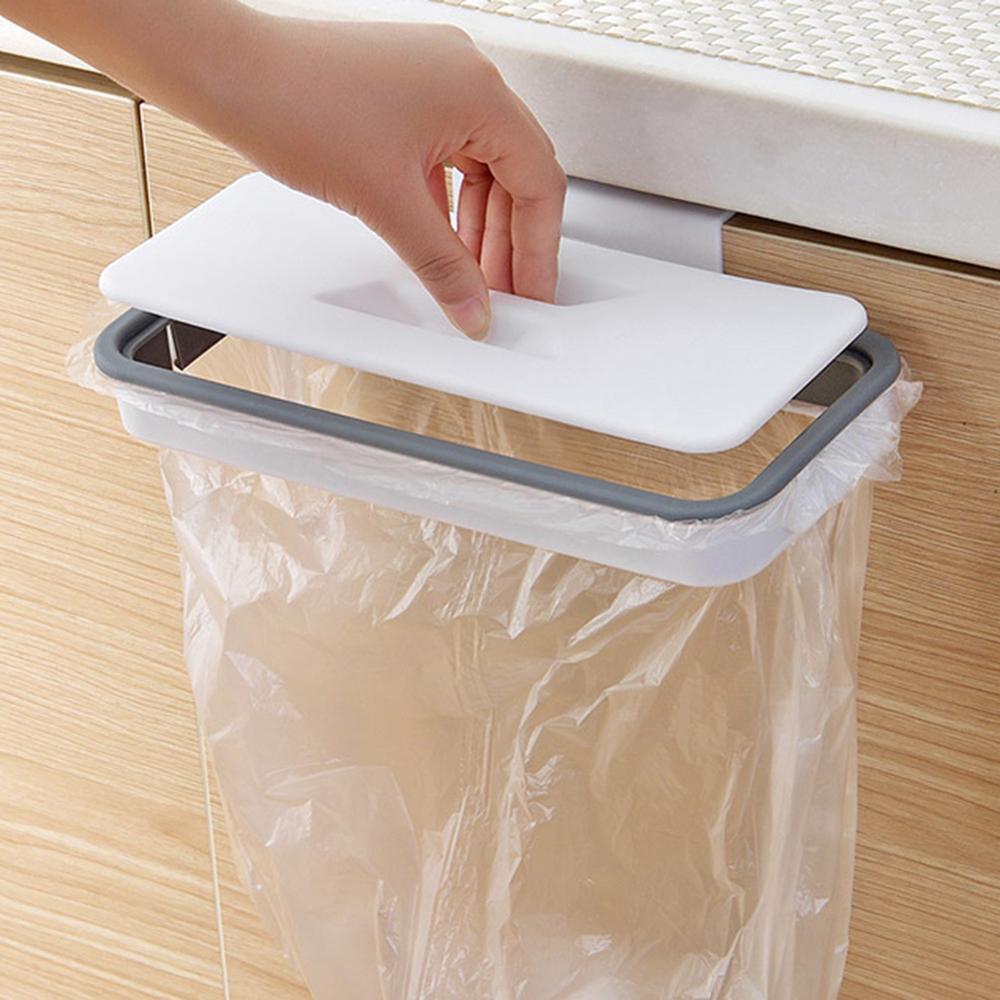 Φορητή πλαστική τσάντα αναρρόφησης σκουπιδιών, κουτί αποθήκευσης απορριμμάτων κουζίνας, γάντζο μαξιλάρι καθαρισμού, διοργανωτής κουζίνας
