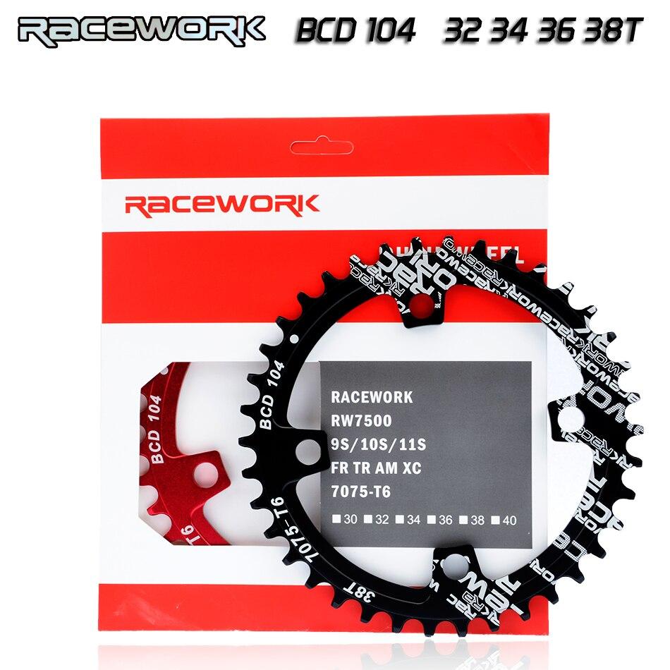 einzigen geschwindigkeit ytem Breite kettenblatt 104 BCD RUNDE 32t 34t 36t 38t MTB 11  10  9  1*11 Kurbel Kettenblatt Ring
