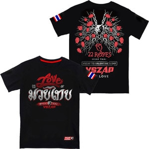 Thai boxing training fighting men's sports fighting t-shirts lovers fitness wulin wind MMA cotton  broadcast