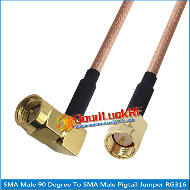 1x pcs high quality sma male to rpsma rp sma rp sma male 90 degree right angle plug coaxial pigtail jumper rg316 cable 1X Pcs High-quality SMA Male to SMA Male 90 Degree Right Angle Plug Coaxial Pigtail Jumper RG316 Cable