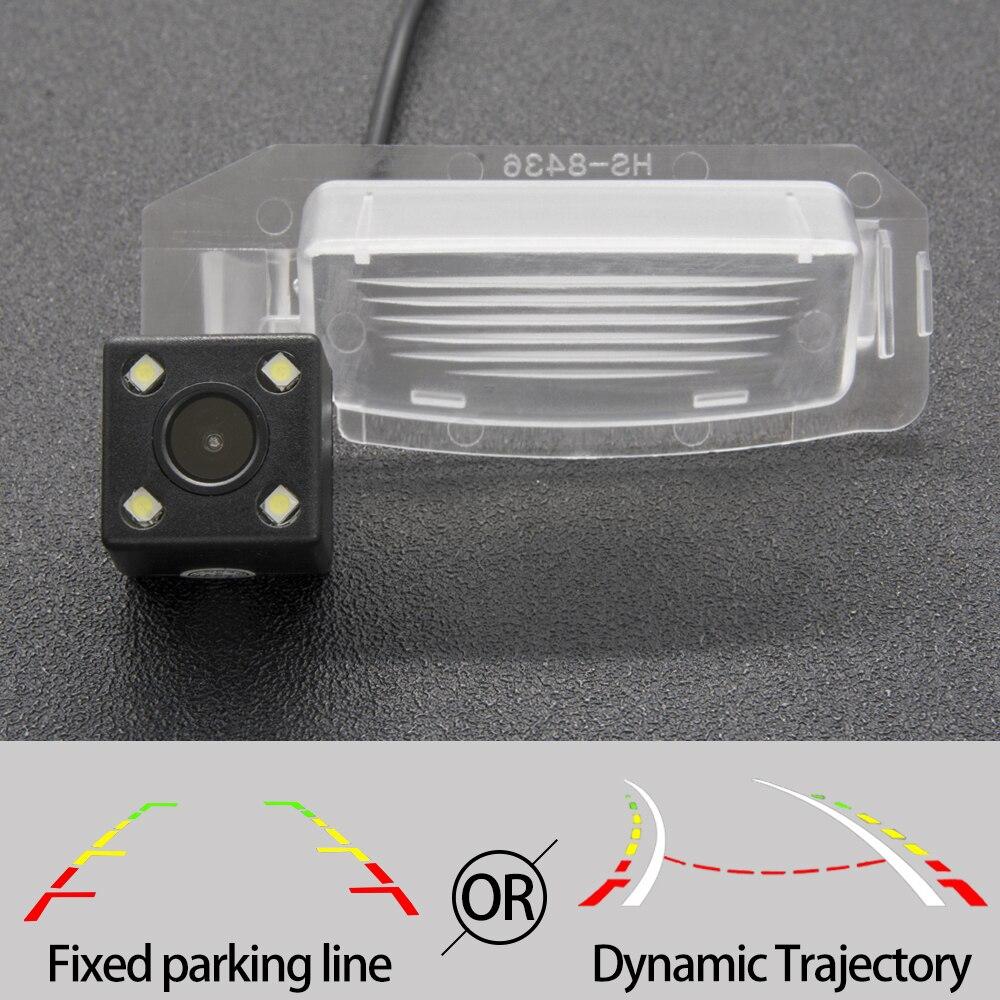 Trayectoria fija o dinámica CCD cámara de visión trasera para Mitsubishi Outlander Lancer Sportback i-miev 5D Hatchback Xpander Coche