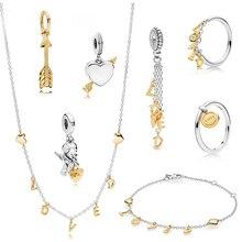 2020 nouvelle mode Standard 925 en argent Sterling cupidon flèche ange pendentif charme amour lettre anneau Bracelet collier médaille anneau
