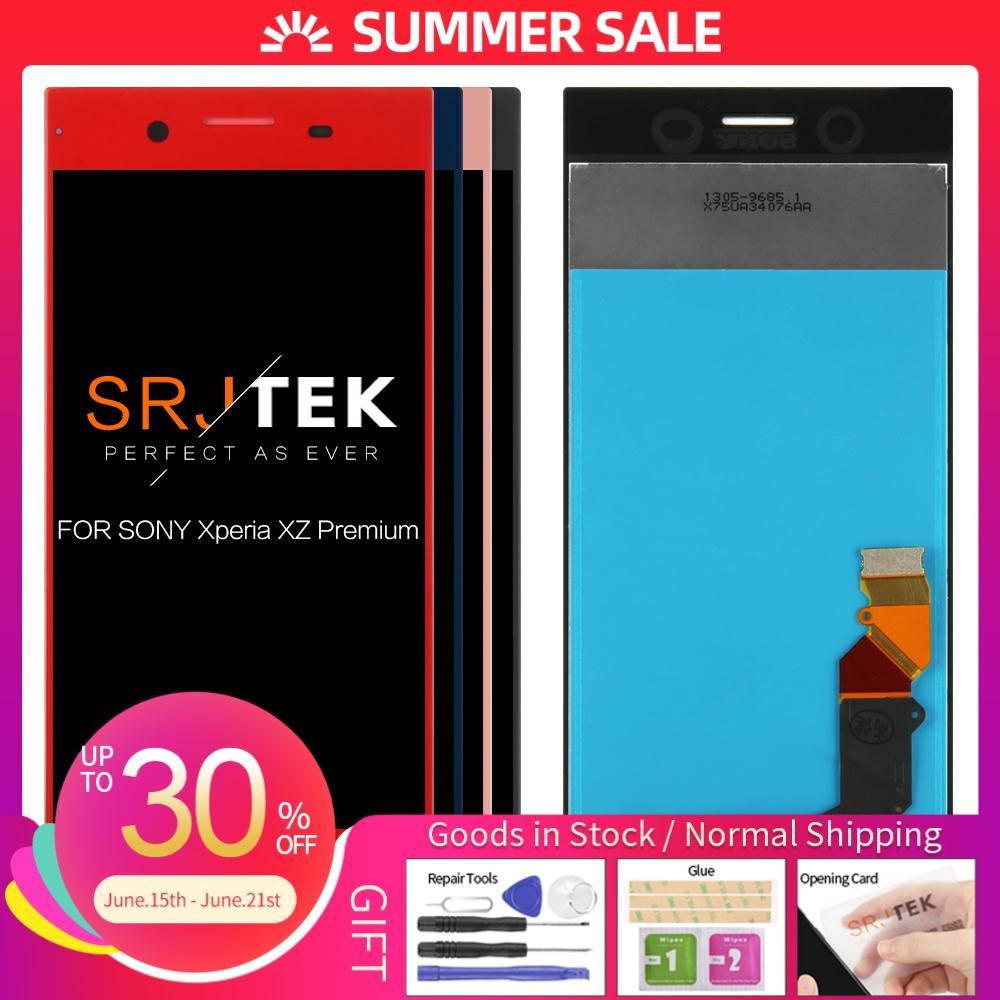 Pantalla IPS probada de 5,5 pulgadas para SONY Xperia XZ Premium LCD MONTAJE DE digitalizador con pantalla táctil G8142 G8141 piezas de repuesto 3840x2160