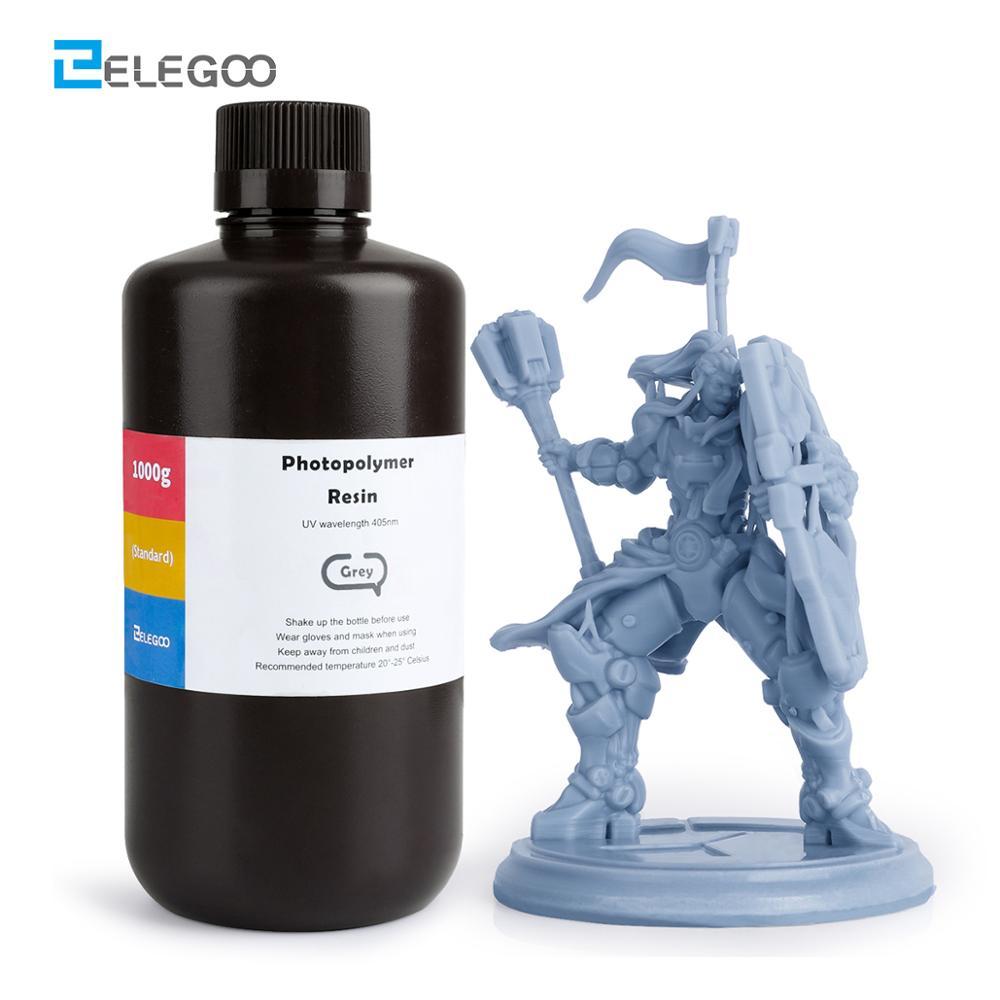 ELEGOO ABS gibi 3D yazıcı reçine LCD UV tedavi reçine 405nm ABS gibi standart fotopolimer reçine LCD 3D baskı 1000ml gri