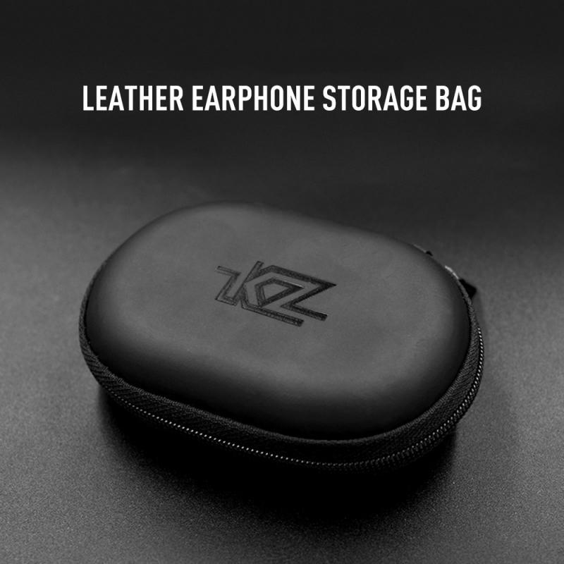 1 Pza Mini negro Kz cremallera tarjeta de memoria bolsa de almacenamiento de monedas de cuero PU caja de almacenamiento impermeable para AirPods i7 funda protectora