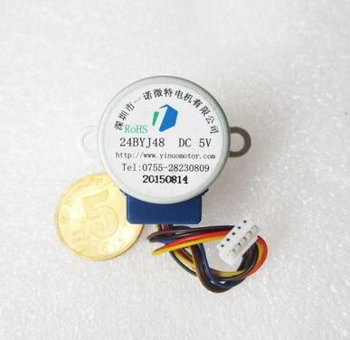 24BYJ48 DC 5V schrittmotor 4 phase 5 Linie 5V Für luftreiniger Klimaanlage Kühlschränke 10,5 MM welle