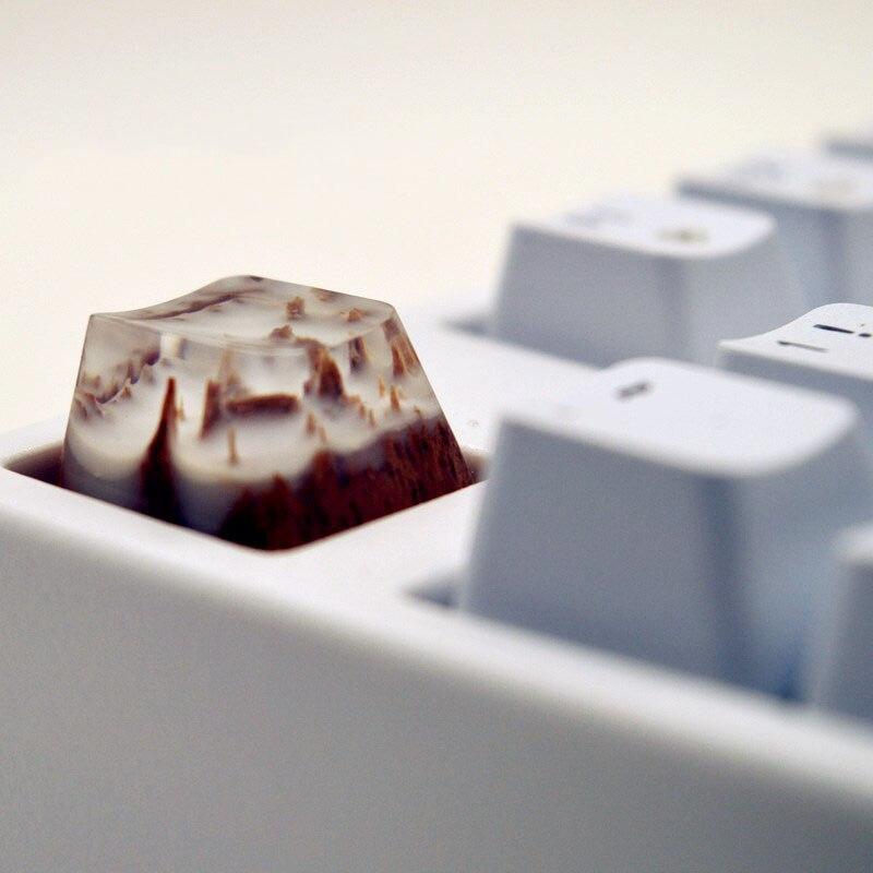 مفاتيح مخصصة أغطية مفاتيح بإضاءة خلفية GK61 آن برو 2 SK64 شيري سويتش لوحة مفاتيح ميكانيكية للألعاب والجبال الثلجية من الراتنج أغطية مفاتيح