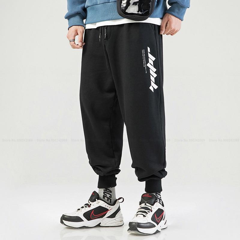 Chinesischen Stil Retro Beiläufige Lose Mode Gedruckt Schweiß Harem Hosen Japanischen Street Hip Hop Hosen Böden Männer Kleidung