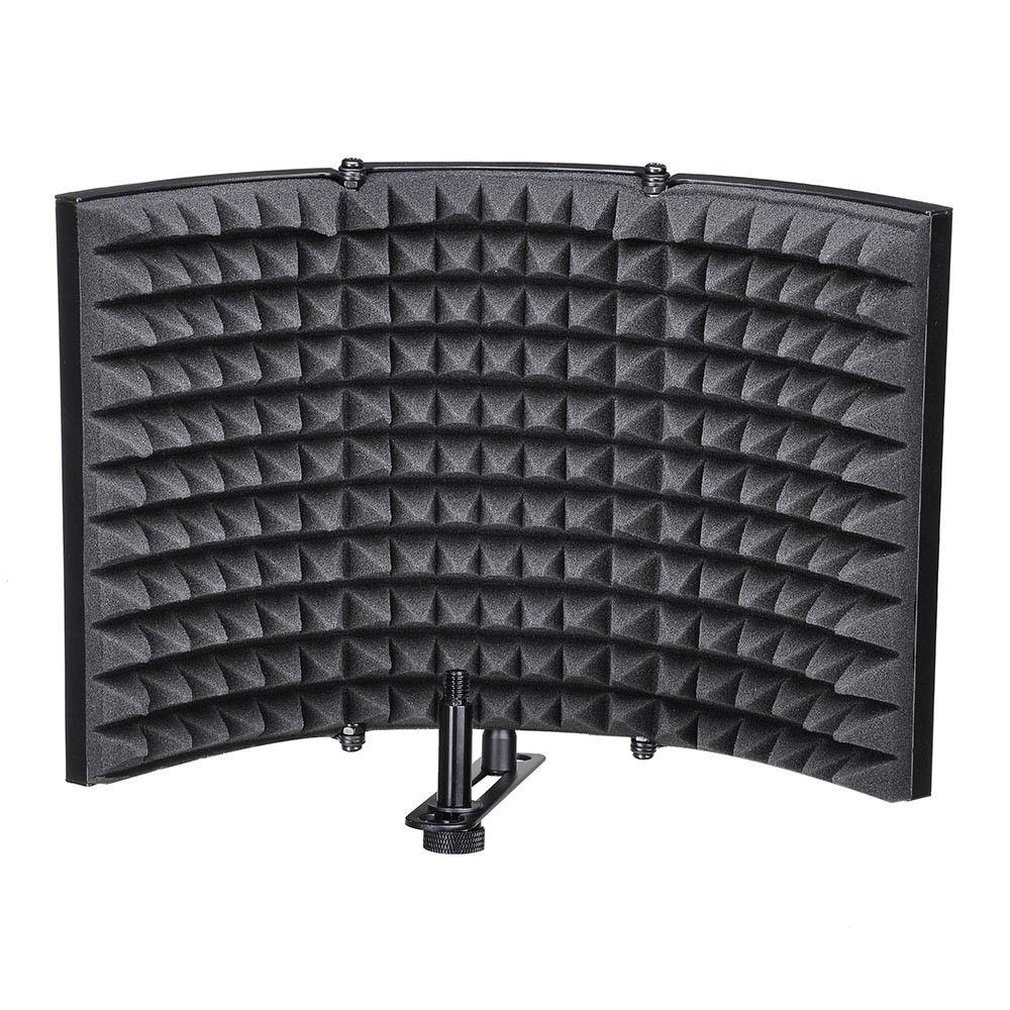 Folding Studio Microphone Isolation Shield Recording Sound Absorber Foam Panel Professional Recording Tool enlarge