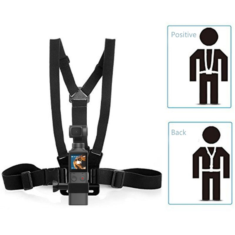 Correa de pecho ajustable para cámara cinturón de hombro doble para FIMI PALM PTZ cámaras accesorios de fijación de pecho