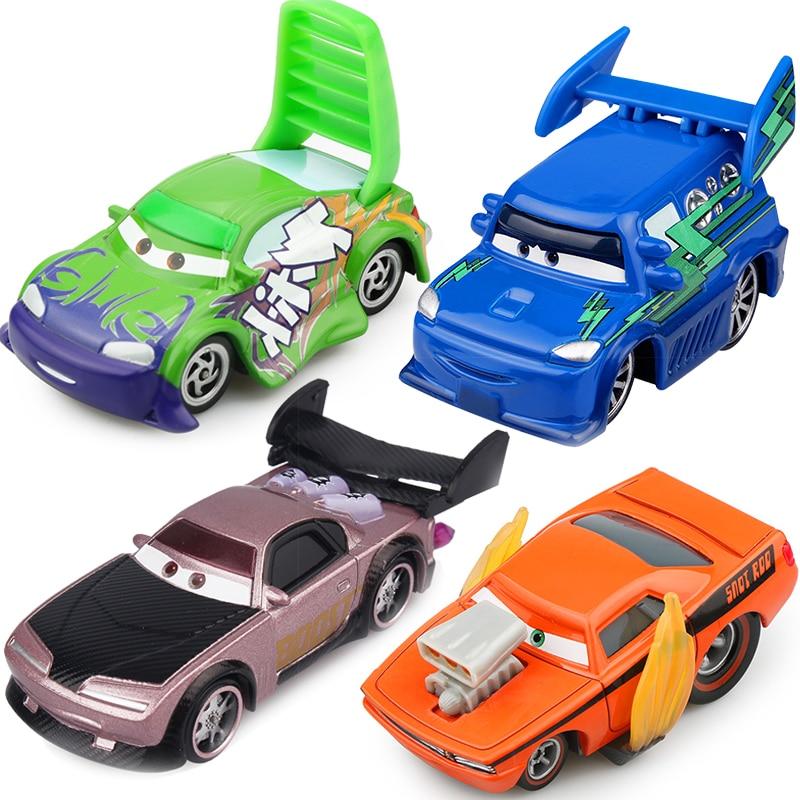 Disney Pixar Cars 2 Toy Alloy Model Car Badger Flame Slugs Blue DJ Wenge Bad Guys Four Group 1:55 Me