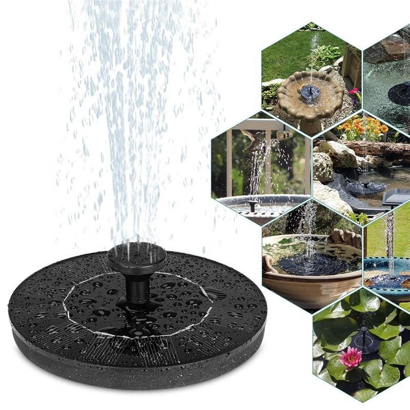 Vandens fontanas saulės energija, fontano pompa, vandens plūduriuojantis fontanas sodo tvenkiniui, vidinis kiemas, dekoratyvinė vejos dekoracija