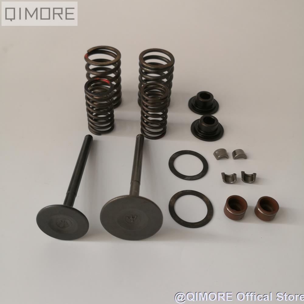 Intake Ventil Abgas Ventil & Ventil Quellen & Dichtungen Set für 4 stroke air-kühlung Roller Moped ATV QUAD GY6 150 157QMJ 1P57QMJ