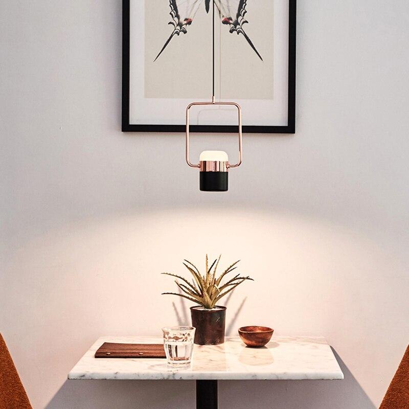 مصباح معلق led بتصميم إسكندنافي بسيط ، مصباح بجانب السرير/مطعم/غرفة نوم/بار ، طاولة طعام ، دراسة