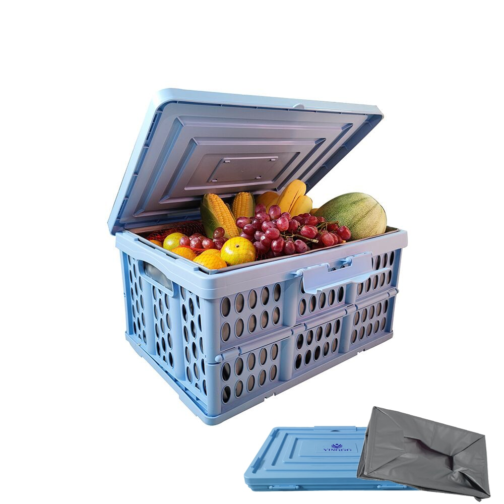 YINGGG Storage Containers Collapsible Storage Bin Durable Plastic Trunk Organizer Stackable Storage Container Folding Crates