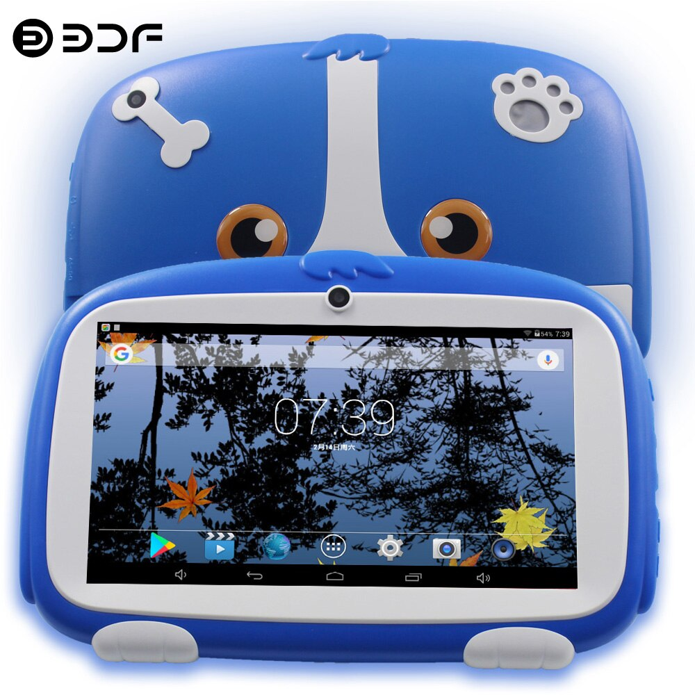 New Arrivals 7 Inch Kids Tablet Pc Quad core Android 8.0 Google Play Dual Camera 16GB WiFi Children's favorites gifts tablets